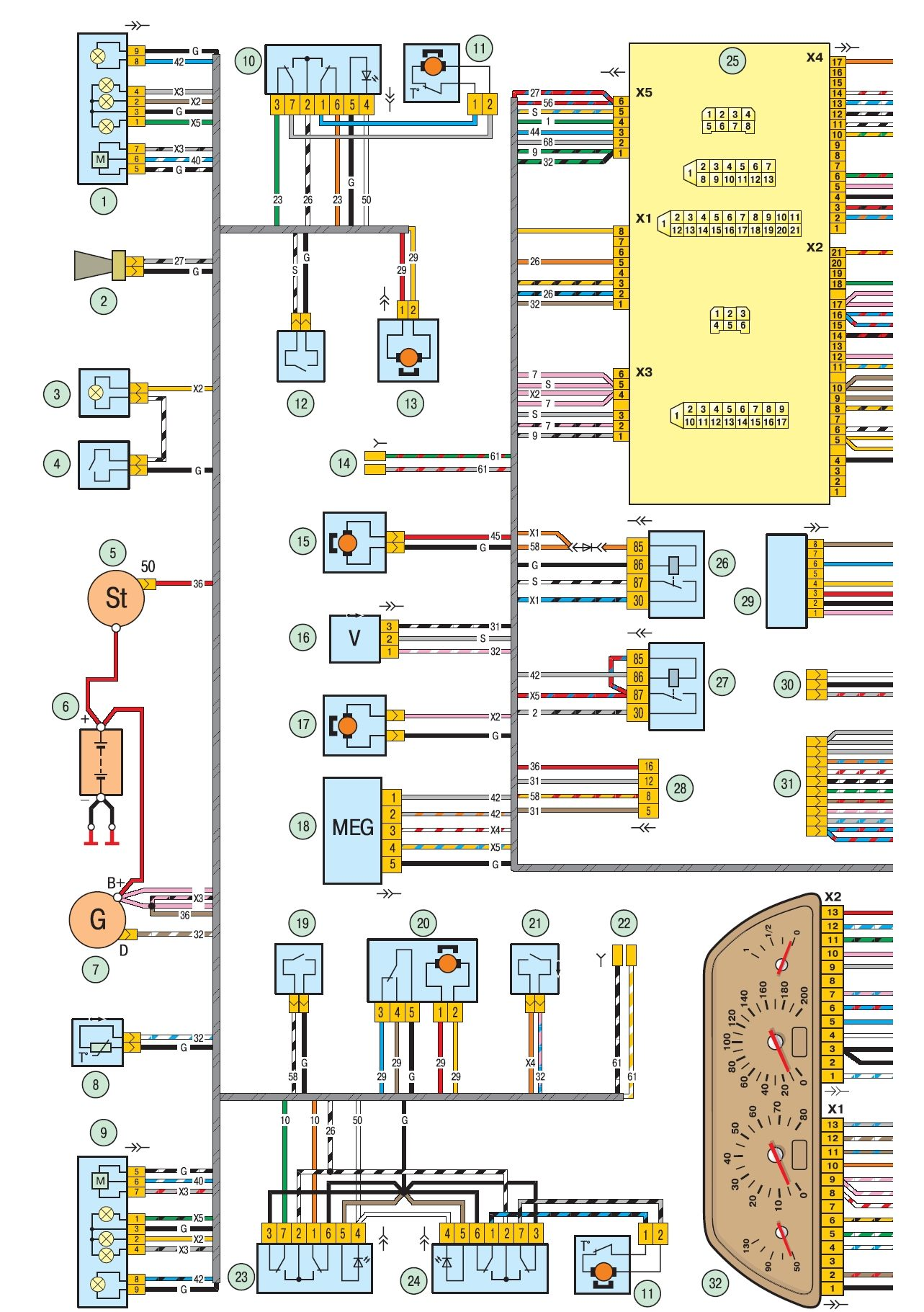 схема электропродовки нива 21214