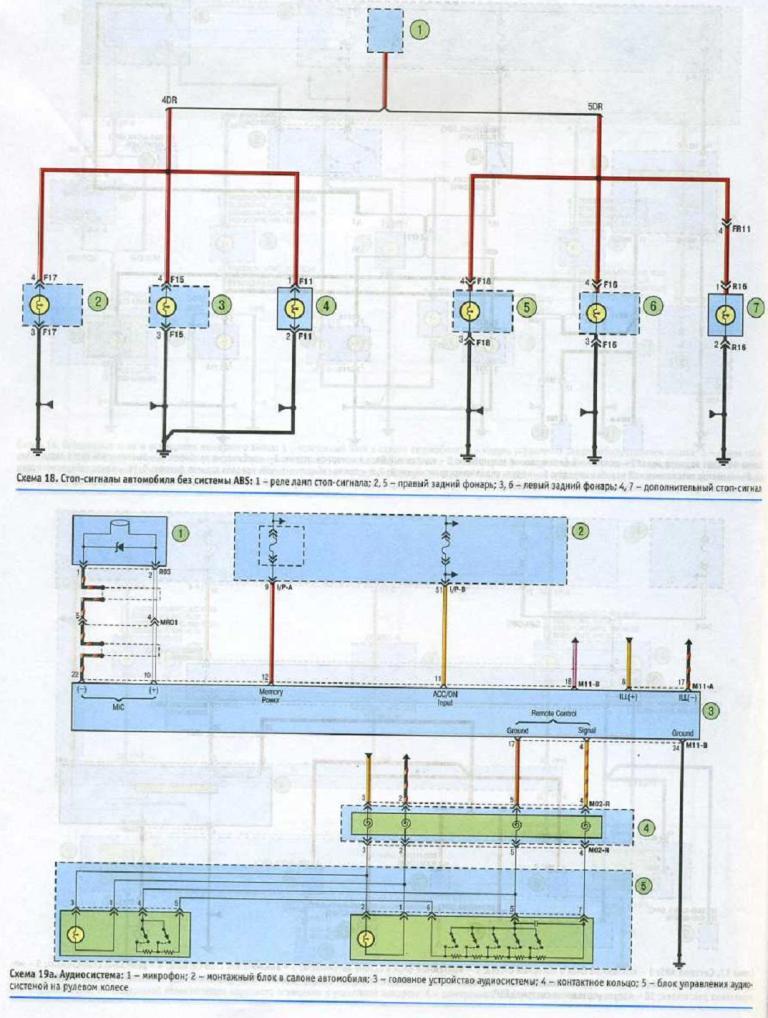 Схема подключения динамиков и