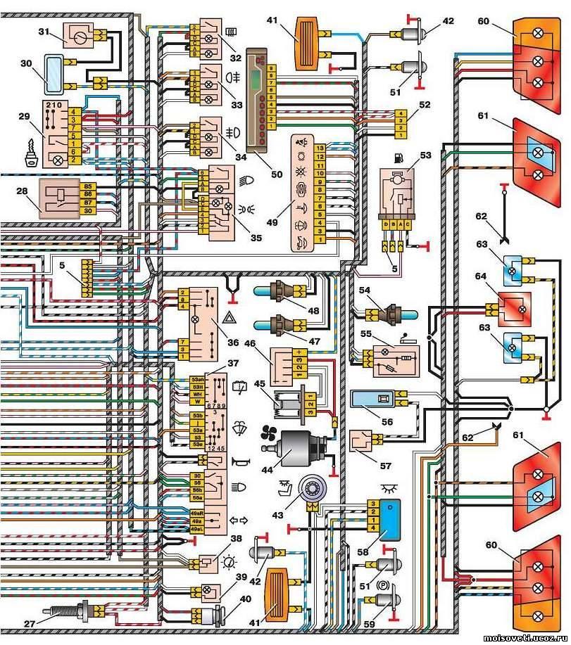 Электросхема ВАЗ-2115