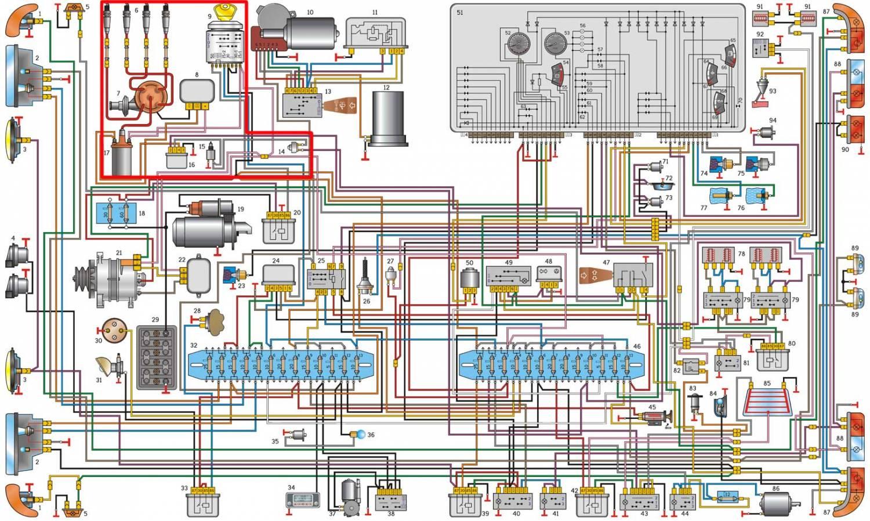 Электросхема газ 3110 змз 406