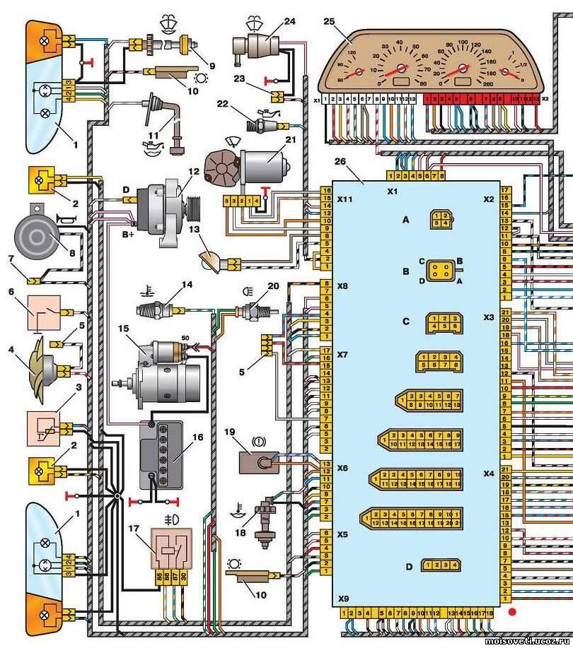 Электросхема Ваз 2113 Ваз 2114