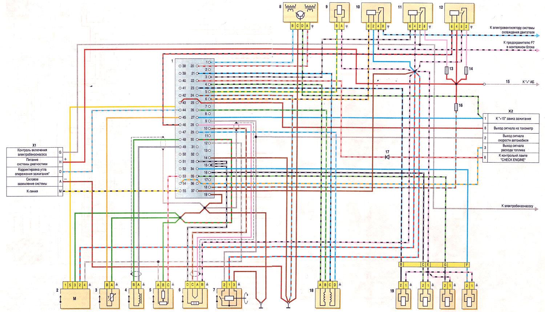 Эл схема ваз 2107 с инжектором