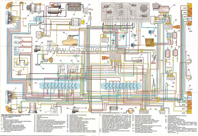 схема включения вентилятора газель евро 2