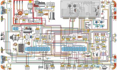газ 53 электросхема